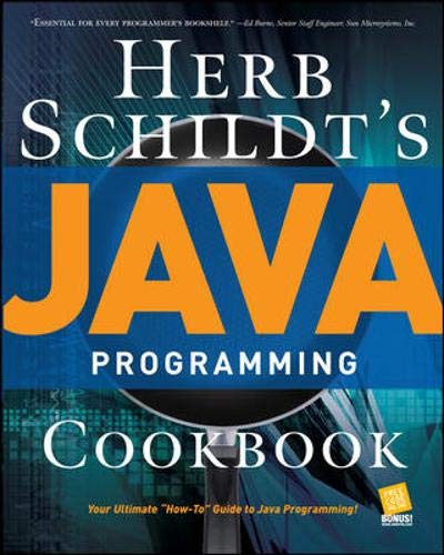 9780072263152: Herb Schildt's Java Programming Cookbook