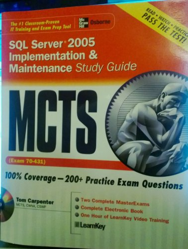 9780072263220: McTs SQL Server 2005: Implementation and Maintenance, Study Guide (Exam 70-431)
