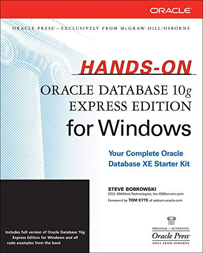 9780072263312: Hands-On Oracle Database 10g Express Edition for Windows (Oracle Press)