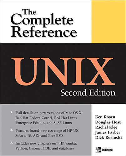 9780072263367: UNIX: The Complete Reference, Second Edition (Complete Reference Series)