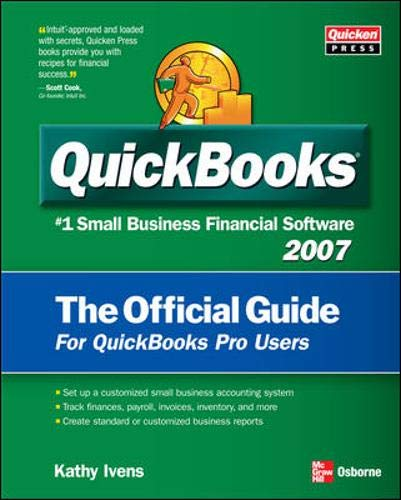 9780072263459: QuickBooks 2007 The Official Guide