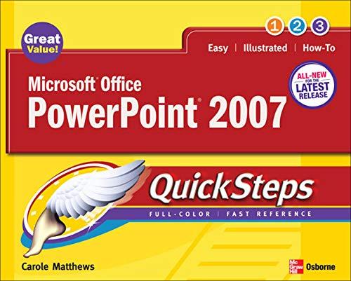 9780072263701: Microsoft Office PowerPoint 2007 QuickSteps
