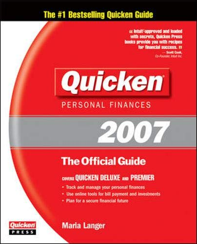 9780072263800: Quicken 2007: The Official Guide