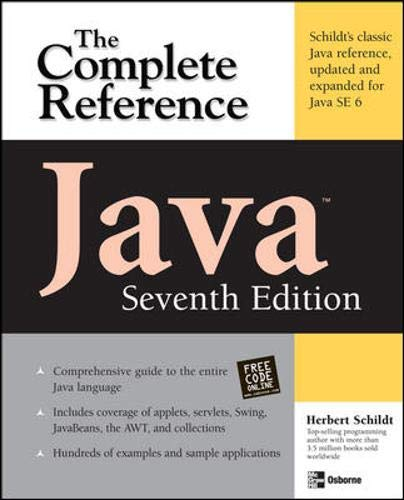 9780072263855: Java The Complete Reference, Seventh Edition (Osborne Complete Reference Series)