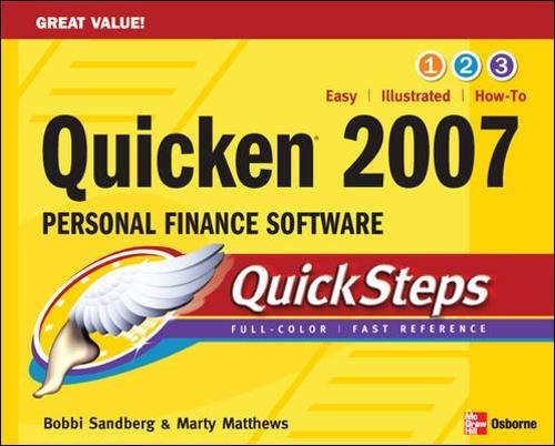 9780072263886: QUICKEN 2007 PERSONAL FINANCE SOFTWARE QUICKSTEPS
