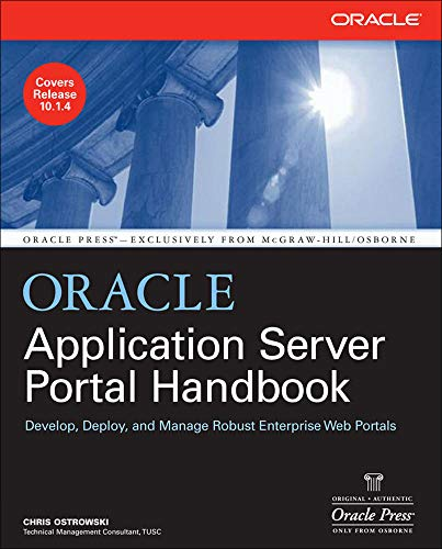 9780072264609: Oracle Application Server Portal Handbook (Oracle Press)