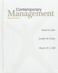 Contemporary Management, 2nd Edition: Jones, Gareth R.