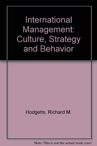 9780072282825: Title: International Management Culture Strategy and Beha