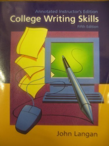 9780072283280: COLLEGE WRITING SKILLS ANNOTATED INSTRUCOR'S EDITION