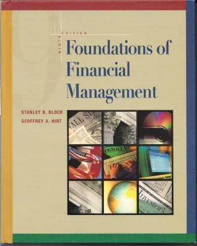 9780072283365: Foundations of Financial Management