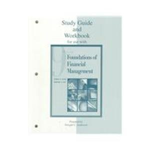 9780072283440: Study Guide/Workbook to accompany Foundations of Financial Management