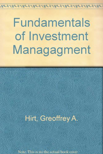 9780072283525: Fundamentals of Investment Managagment