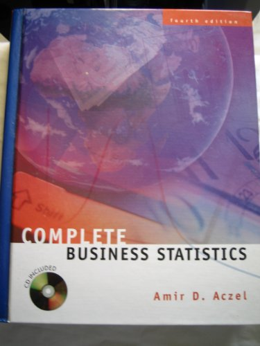 9780072286816: Complete Business Statistics