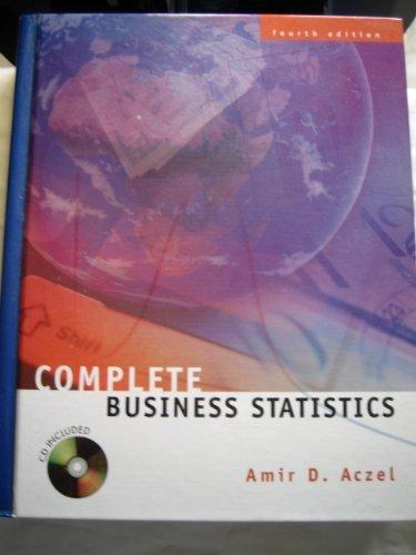 9780072286816: Complete Business Statistics