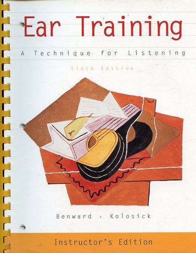 9780072287714: Ear Training: A Technique for Listening Instructor's Edition