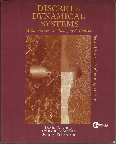 9780072289015: Discrete Dynamical Systems: Mathematics, Methods, and Models.