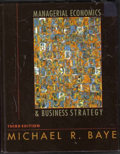 9780072289176: Managerial Economics and Business Strategy