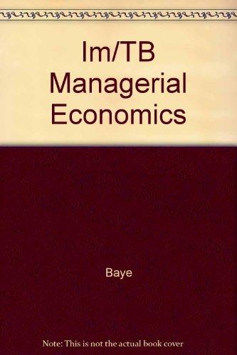 9780072289206: Im/TB Managerial Economics