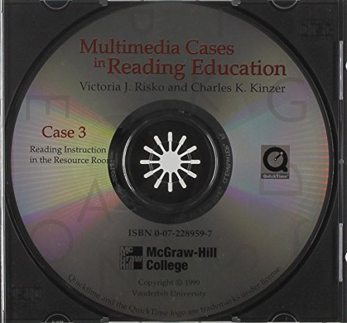 9780072289596: Student Guide for Multimedia Cases in Reading Education: Reading Instruction in the Resource Room
