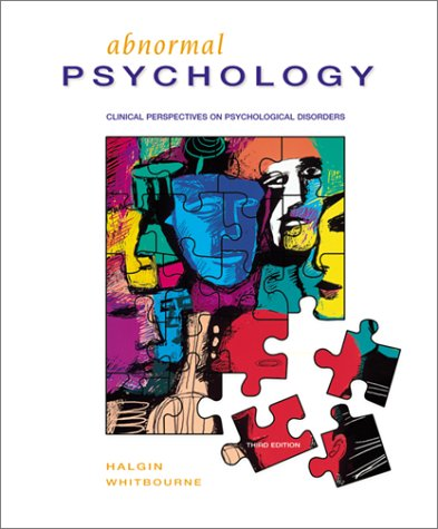 9780072289824: Abnormal Psychology: Clinical Perspectives on Psychological Disorders, 3rd Edition
