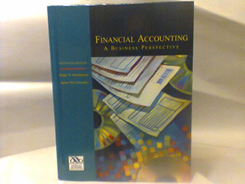9780072289985: Financial Accounting: A Business Perspective