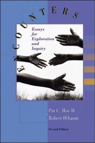 9780072290455: Encounters: Essays for Exploration and Inquiry
