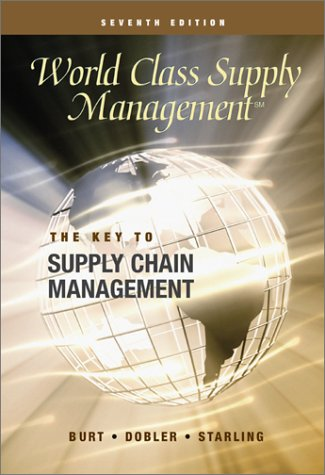 9780072290707: World Class Supply Management The Key To Supply Chain Management