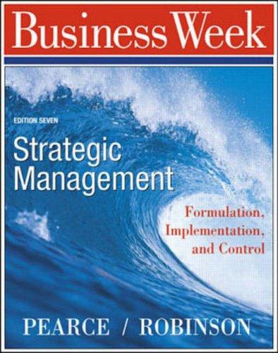 9780072290752: Strategic Management: Formulation, Implementation and Control (Business Week Guide)