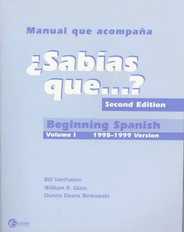 9780072290981: Sabias Que?: Beginning Spanish 1998-1999