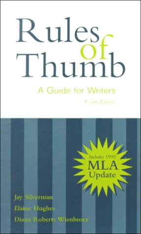 9780072291957: Rules of Thumb: A Guide for Writers with 1999 MLA Updates