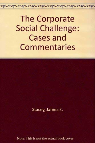9780072292367: The Corporate Social Challenge: Cases and Commentaries