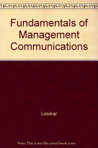 9780072293609: Fundamentals of Management Communications