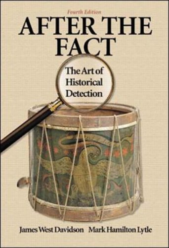 9780072294262: After the Fact: The Art of Historical Detection Combined