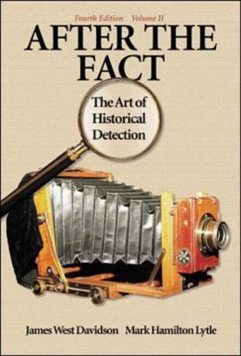 9780072294286: After the Fact: The Art of Historical Detection Volume 2: v. 2