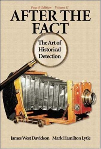 9780072294286: After the Fact: The Art of Historical Detection Volume 2