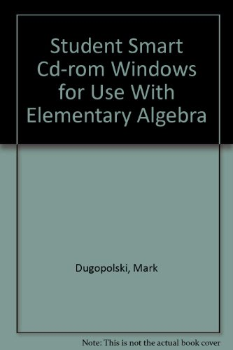 9780072294583: Student SMART CD-Rom Windows for use with Elementary Algebra