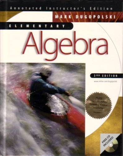 9780072294637: Elementary Algebra Annotated Instructor's Edition