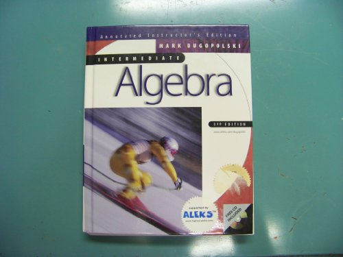 9780072294842: Intermediate algebra