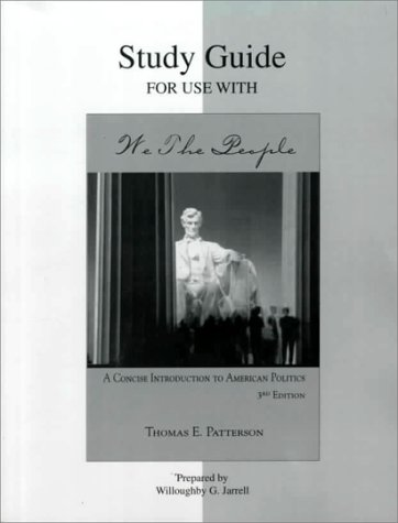 9780072295146: Study Guide for Use With We the People: A Concise Introduction to American Politics