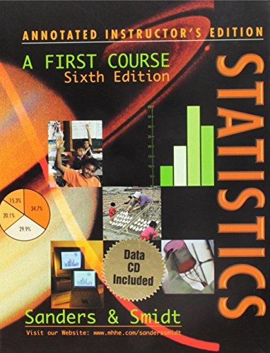 9780072295504: Statistics: A First Course