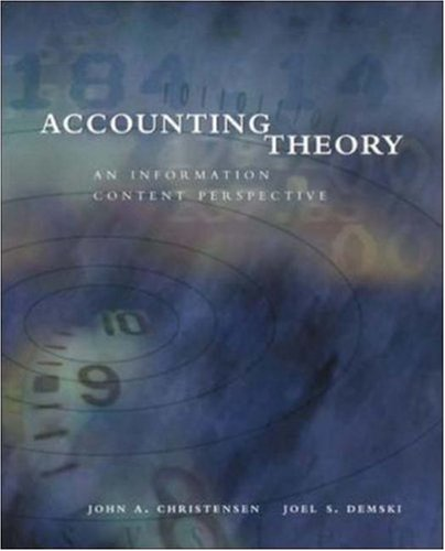 Accounting Theory: An Information Content Perspective: Christensen,John; Demski,Joel