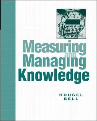 9780072297713: Measuring and Managing Knowledge