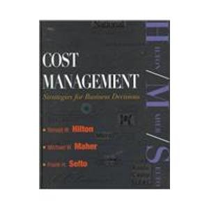 9780072299021: Cost Management: Strategies for Business Decisions