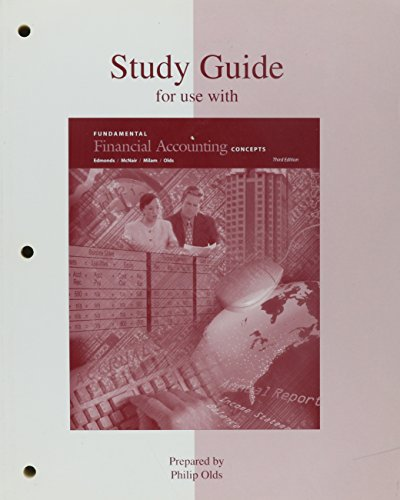 9780072299069: Study Guide for use with Fundamental Financial Accounting Concepts