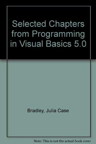 9780072299625: Selected Chapters from Programming in Visual Basics 5.0
