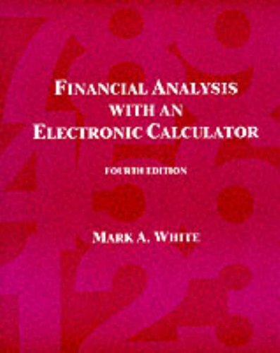 9780072299731: Financial Analysis with an Electronic Calculator