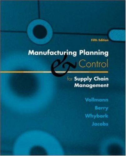 9780072299908: Manufacturing Planning and Control for Supply Chain Management