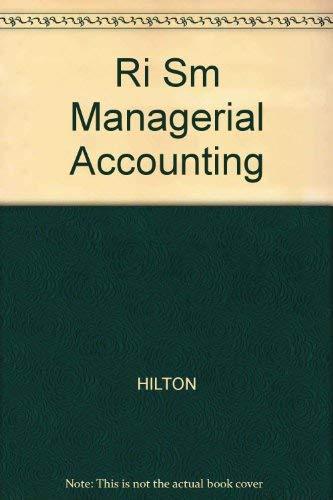 9780072305876: Ri Sm Managerial Accounting