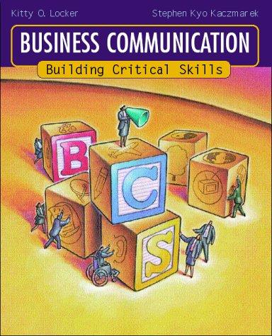 9780072305982: Business Communication: Building Critical Skills