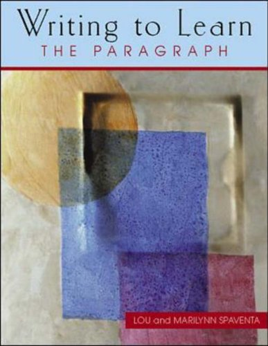 9780072307542: Writing to Learn 2: Student Book: The Paragraph: Low Intermediate - Student Book Bk. 2